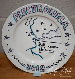 Bill Nelson decorated plate No.1