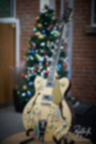 Eastwood guitar, decorated by Bill Nelson