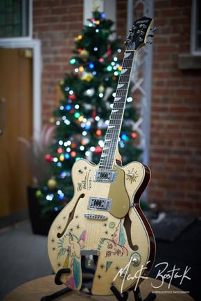Decorated guitar