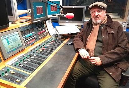 Steve Barker in the studio at BBC Radio