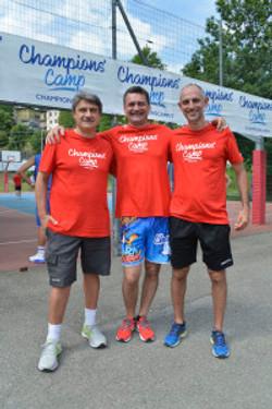 Mark Padellini con coach Marco Sanguettoli e Daniele Zaffarani