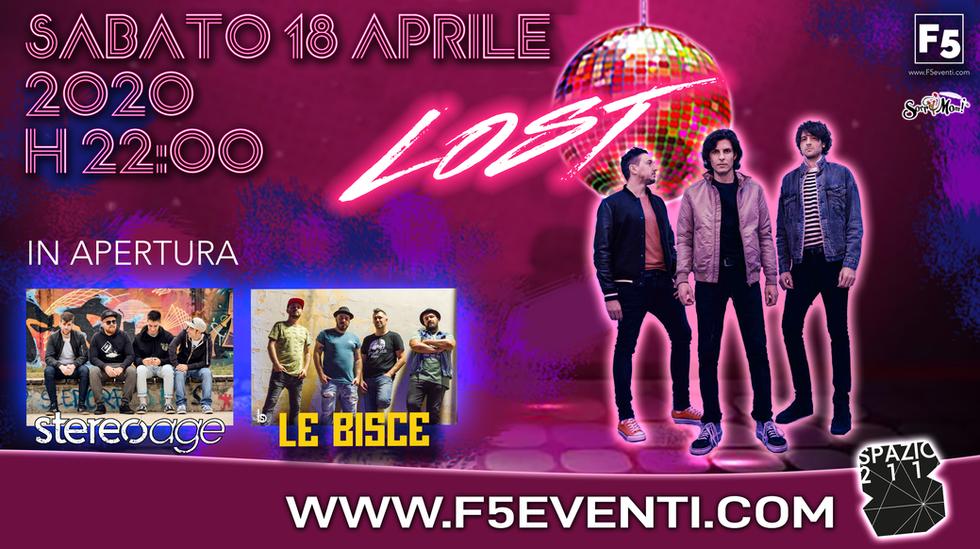 LOST in concerto - sPAZIO 211 Torino - 18 aprile 2020