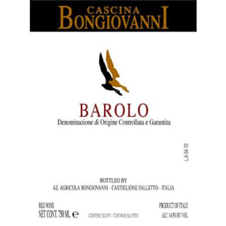 Red Wine: Barolo 2012 Cascina Bongiovanni