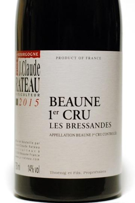 Red Wine:  Beaune 1er Cru JC Rateau Les Bressandes 2015 Magnum