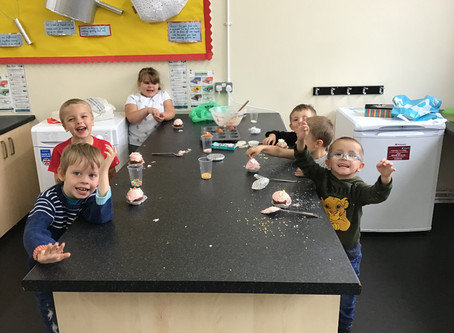 Tractor making and cake baking!