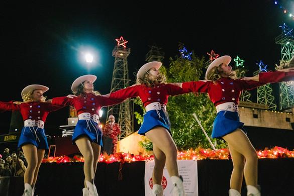 Rangerettes at A Very Derrick Christmas