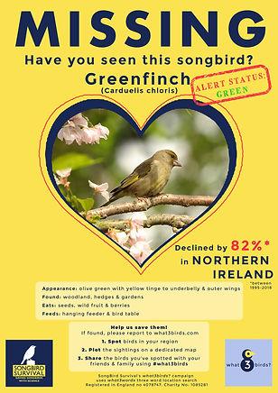 NORTHERN IRELAND, Greenfinch, Missing Po