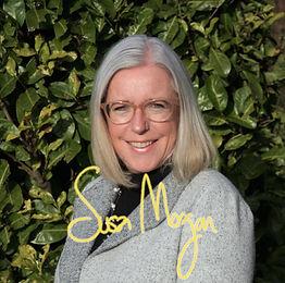 Susan Morgan Signature, Yellow Writing,