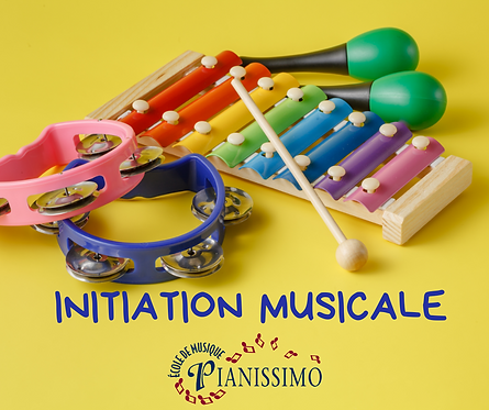 Inscription et 1er versement- Initiation musicale 2020