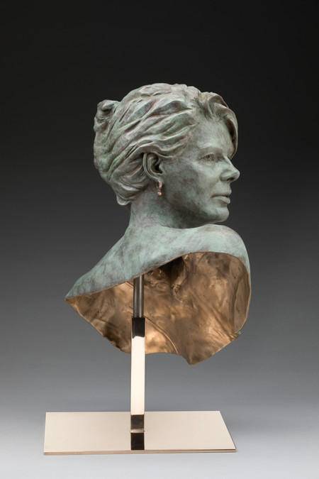 Woman with one earring