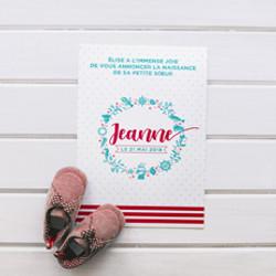 Faire-part naissance Jeanne