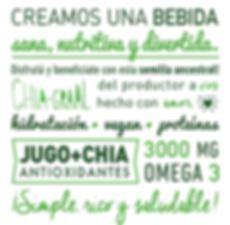 bebida chia, chiagraal, chia, omega 3, vitality drink, características