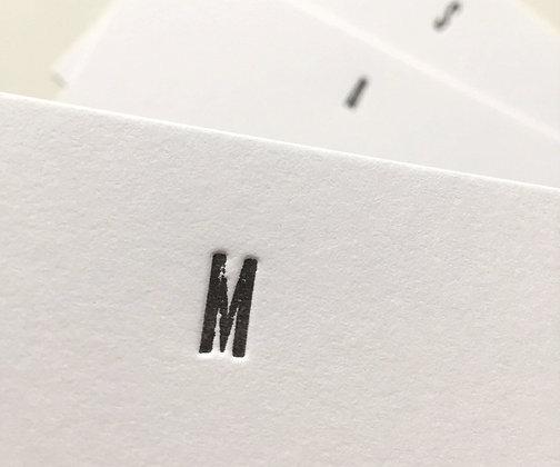 """Monogramm-Set """"Clean"""""""