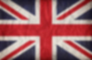 Union Jack on crumpled paper background.
