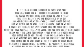 """""""Little Bag of Hope"""" - Carol Brewer monthly poems for our gift packs."""