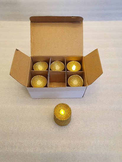 Box of 6 L.E.D. candles