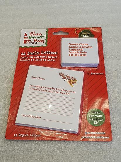 Elves behaving badly letters