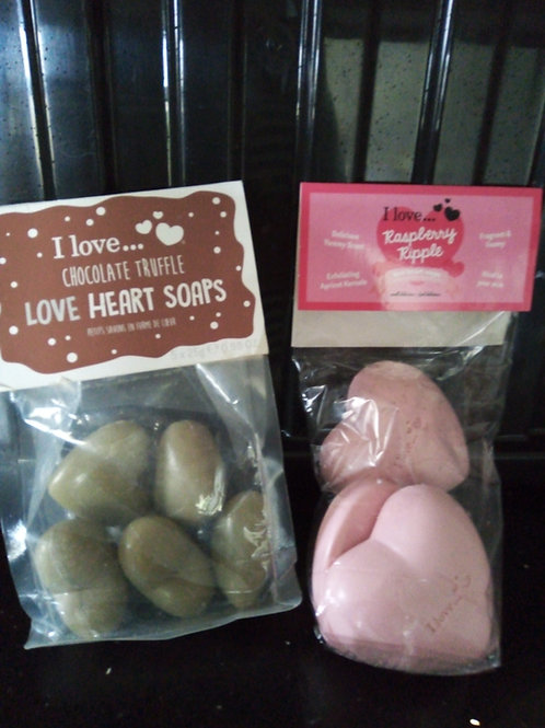 Love heart soaps