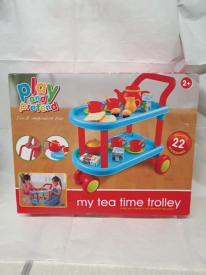 Tea time trolley with accessories