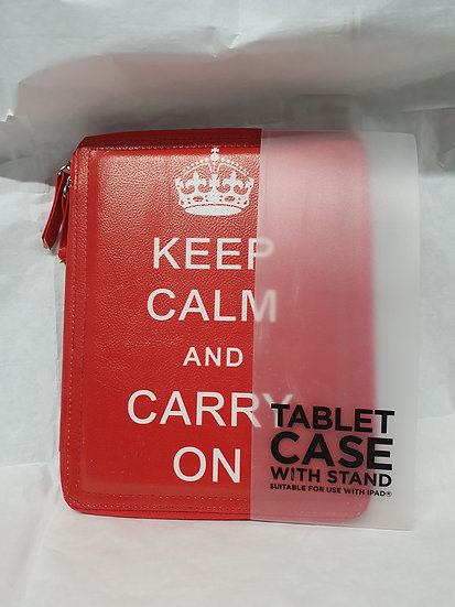 """""""Keep calm"""" tablet case with stand"""