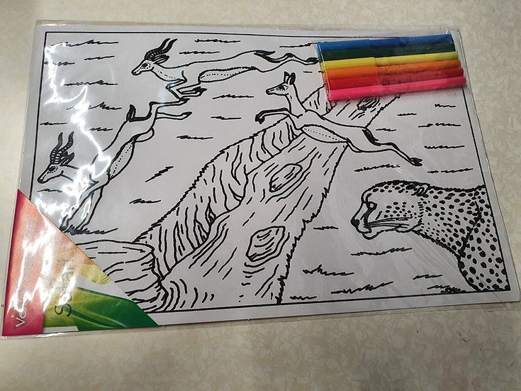 Cheetah colouring kit