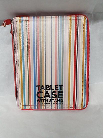 Stripey tablet case with stand