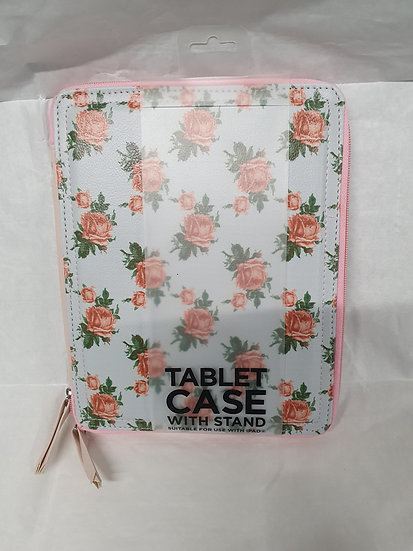 Flowery tablet case with stand