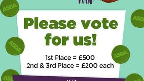 Vote for us in Asda Luton Green Token Scheme!