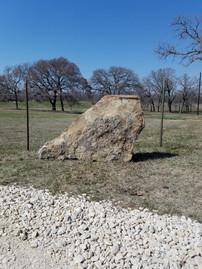 Landcape boulder for ranch entrance