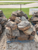 Moss boulders for landscaping