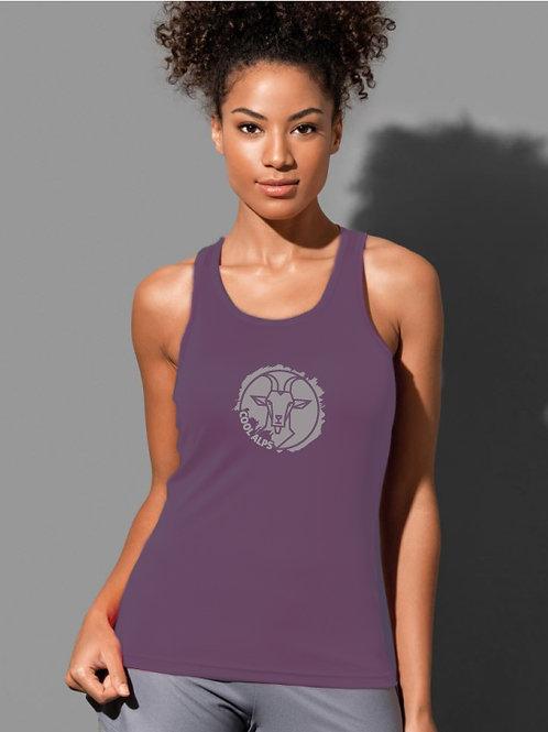 Damen Interlock Sport T-Shirt ärmellos COOL ALPS