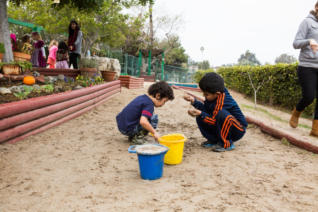 Children on playground at Montessori On The Lake