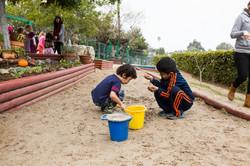 Children on playground at Montessori On The Lake