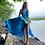 Thumbnail: SATIN silky dress-Blue