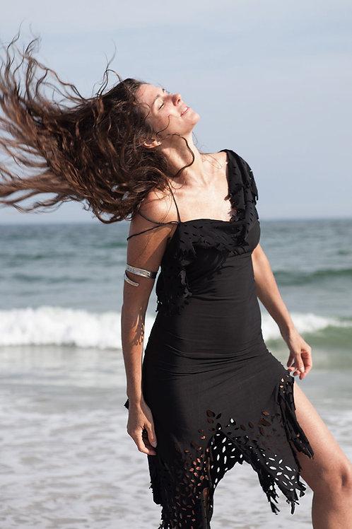 GYPSY SEAMLESS DRESS - BLACK