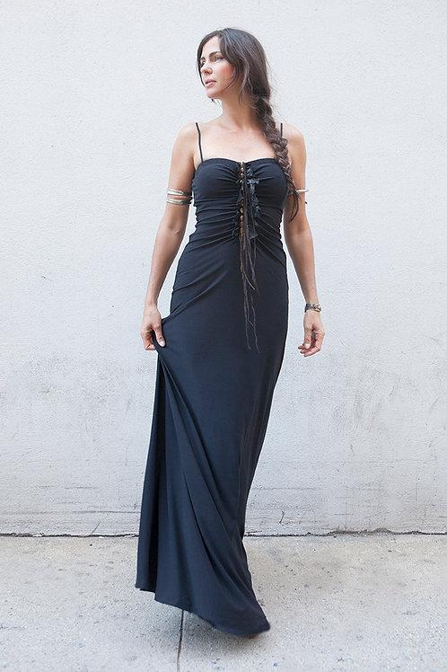 METAL STONE long dress