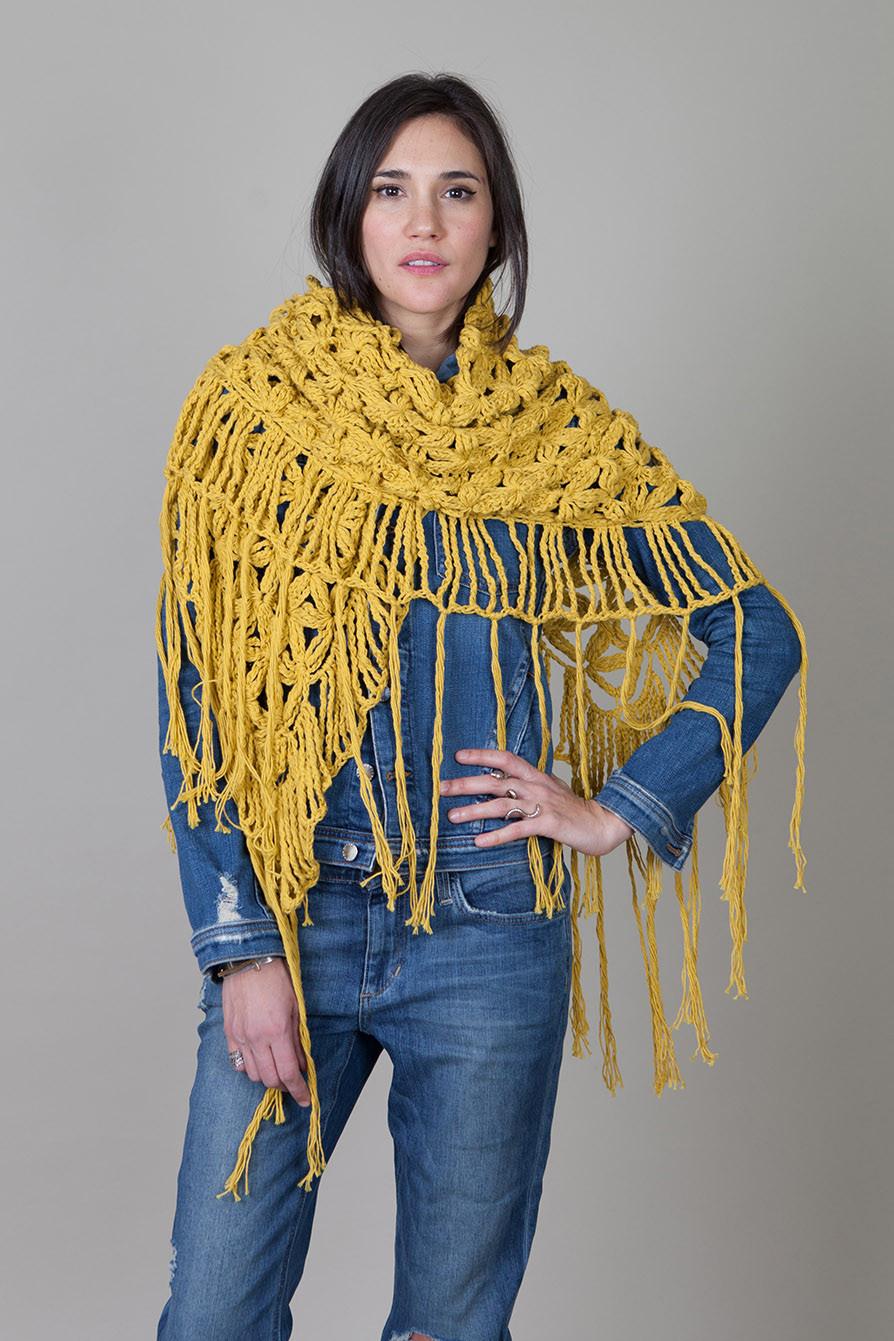 Jessica Shawl-Mustard