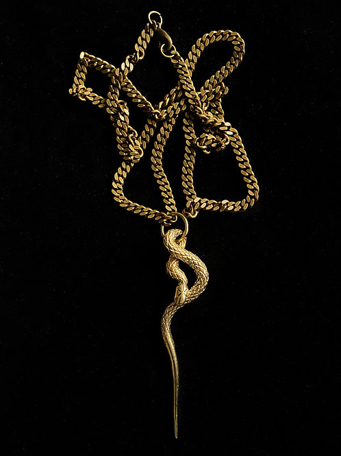 ETERNITY SNAKE necklace-18K Gold plated
