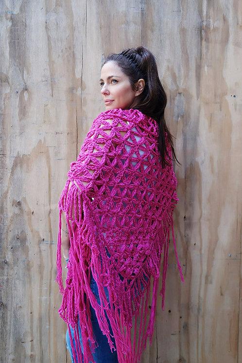 """JESSICA SIMPSON"" shawl-HOT PINK"