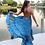Thumbnail: FLOW Asymmetrical dress -Blue Lily