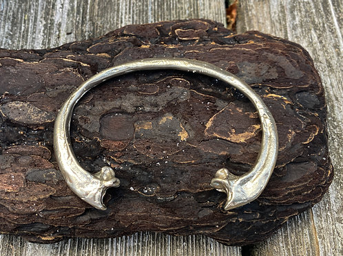 Double Claw Bracelet-Silver