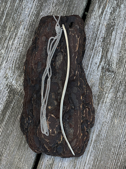 """""""The Harp"""" necklace-SILVER"""