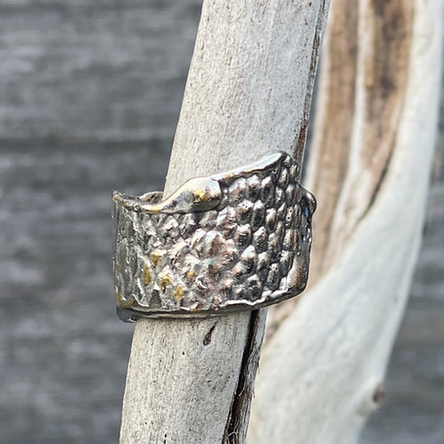 Reptile Texture Ring-Silver