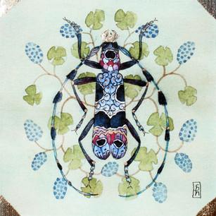 Editions limitées à 50 exemplaires de mon aquarelle originale. Signées et numérotées.  Aquarelles réhaussées à la main à la feuille d'or. 25 x 25 cm 95 euros