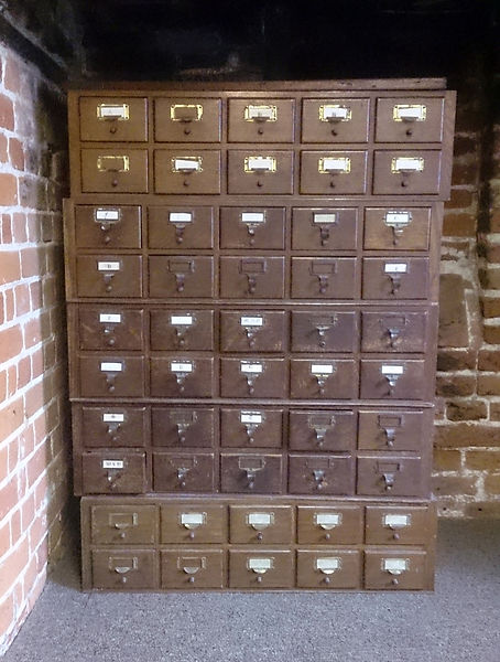 CJ Robinson, Found Narrative No.6, conceptual art, card index drawers