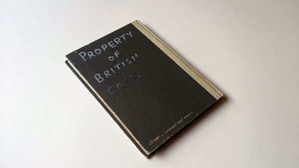 CJ Robinson, Found Narrative No.4, conceptual art, askern colliery log book