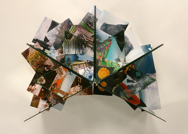 CJ Robinson, I am a traveler in both time and space, installation, collage, mirrors, photography