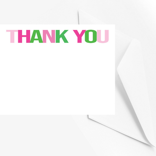 Preppy Thank you Note Cards