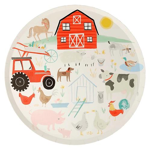On the farm plates