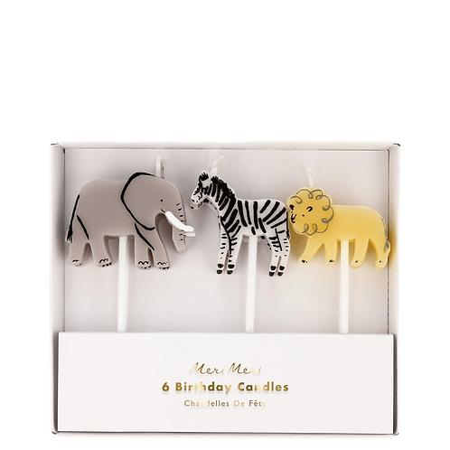 Safari Animal Candles